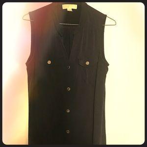 MICHAEL Michael Kors Shirt Dress / Navy / Small
